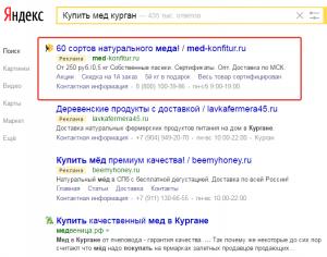 Реклама в Яндексе г. Курган